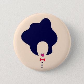 Badge Rond 5 Cm goupille naturelle d'art de cheveux