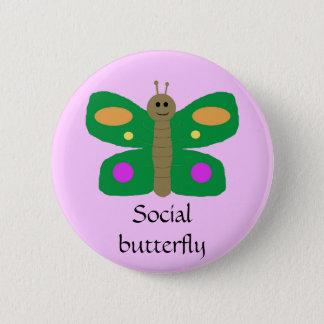 Badge Rond 5 Cm Goupille sociale de papillon