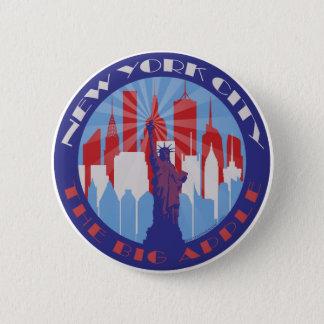 Badge Rond 5 Cm Grand Apple patriote de NYC