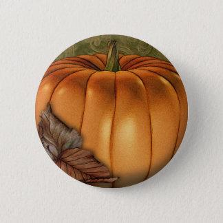 Badge Rond 5 Cm Grand citrouille d'automne