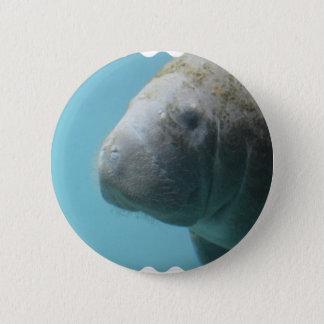 Badge Rond 5 Cm Grand lamantin sous-marin