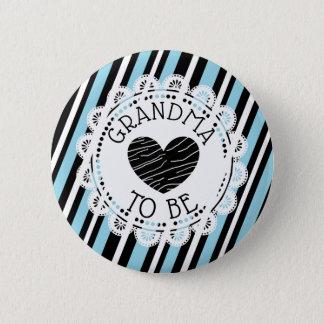 Badge Rond 5 Cm Grand-maman à être bouton de baby shower de coeur