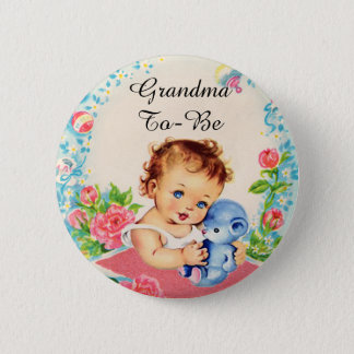 Badge Rond 5 Cm Grand-maman à être bouton vintage de baby shower