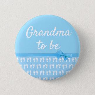 Badge Rond 5 Cm Grand-maman bleue à être bouton de baby shower
