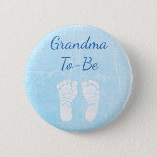 Badge Rond 5 Cm Grand-maman de bébé bleu à être bouton de baby