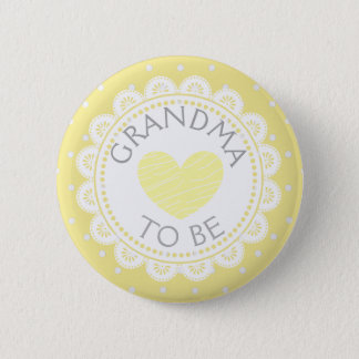 Badge Rond 5 Cm Grand-maman de point de polka de Purple Heart à