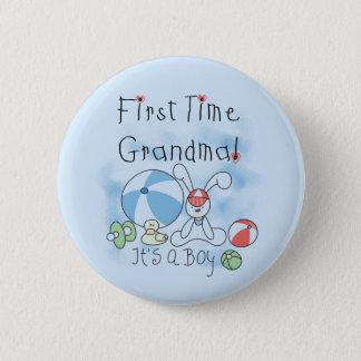 Badge Rond 5 Cm Grand-maman de première fois des T-shirts et des