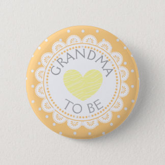 Badge Rond 5 Cm Grand-maman orange de point de polka de Creamsicle
