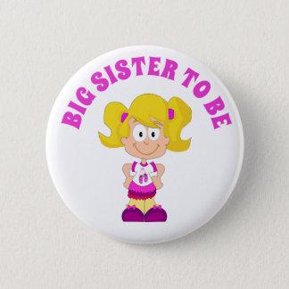 Badge Rond 5 Cm Grande soeur à être bouton de baby shower