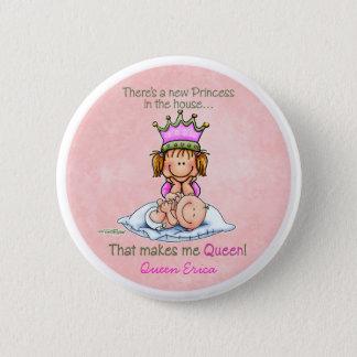 Badge Rond 5 Cm Grande soeur - reine de princesse