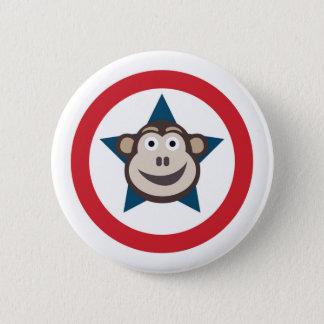 Badge Rond 5 Cm Graphique superbe de singe