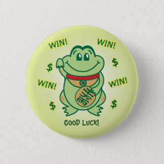 Badge Rond 5 Cm Grenouille chanceuse