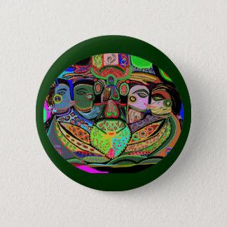 Badge Rond 5 Cm Grille Ovel - art de plaisir de fierté