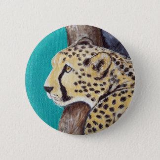 Badge Rond 5 Cm Guépard