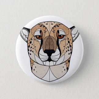 Badge Rond 5 Cm Guépard géométrique