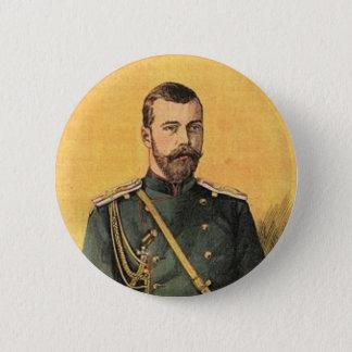Badge Rond 5 Cm Guerre Russo-Japonaise vol. 01 - tsar Nicholas 001