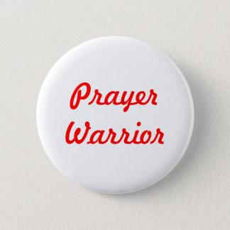 Badge Rond 5 Cm Guerrier de prière