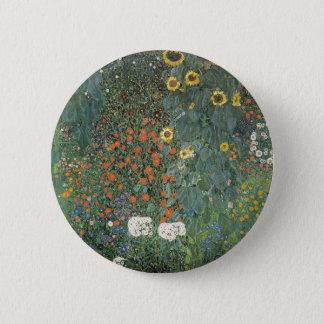 Badge Rond 5 Cm Gustav Klimt - fleurs de tournesols de jardin de