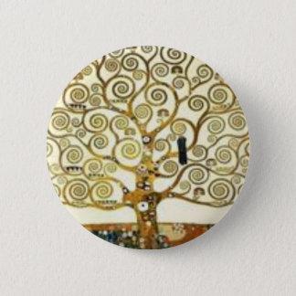 Badge Rond 5 Cm Gustav Klimt - l'arbre de la peinture de la vie