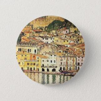 Badge Rond 5 Cm Gustav Klimt - Malcesine sur le policier de lac