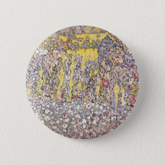 Badge Rond 5 Cm Gustav Klimt - paysage horticole avec le sommet