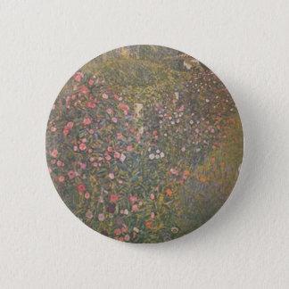 Badge Rond 5 Cm Gustav Klimt - paysage horticole italien