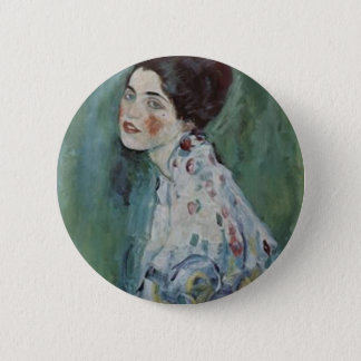Badge Rond 5 Cm Gustav Klimt - portrait de Madame Painting