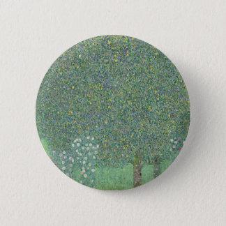Badge Rond 5 Cm Gustav Klimt - rosiers sous l'illustration