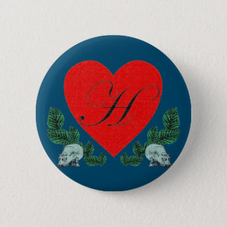 Badge Rond 5 Cm H à un coeur