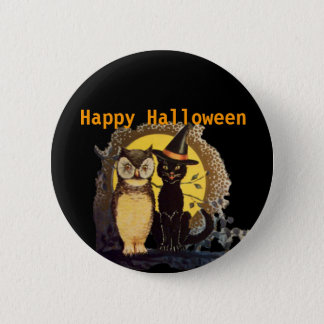Badge Rond 5 Cm Halloween heureux effrayant