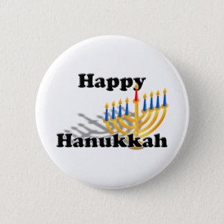 Badge Rond 5 Cm Hanoukka heureux