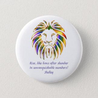 Badge Rond 5 Cm Hausse comme la conception 3 de lions