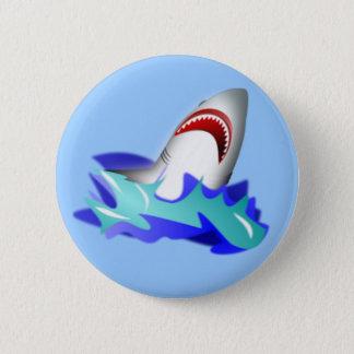 Badge Rond 5 Cm Hausse de requin