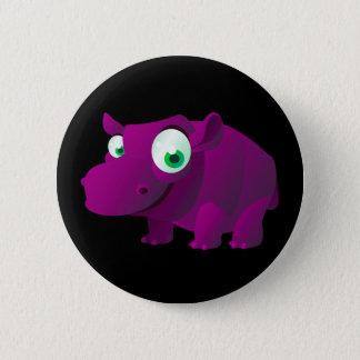 Badge Rond 5 Cm Heather l'hippopotame