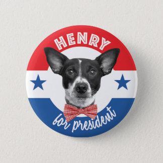 Badge Rond 5 Cm Henry pour le Président Button