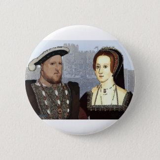 Badge Rond 5 Cm Henry VIII et Ann Boleyn