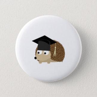 Badge Rond 5 Cm Hérisson d'obtention du diplôme