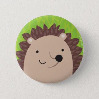 Badge Rond 5 Cm Hérisson heureux - amis de région boisée