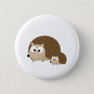Badge Rond 5 Cm Hérissons mignons