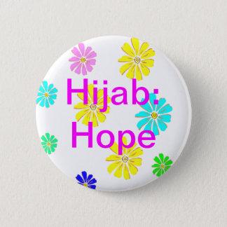Badge Rond 5 Cm Hijab : Bouton d'espoir