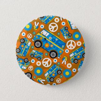 Badge Rond 5 Cm Hippie Van de paix d'années '60 de bande dessinée