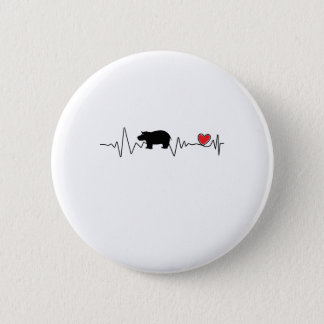 Badge Rond 5 Cm Hippopotame d'amour d'hippopotame de bébé de Fiona