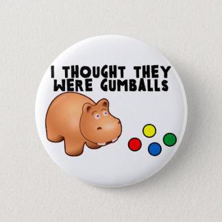 Badge Rond 5 Cm Hippopotame Gumballs