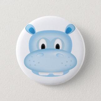 Badge Rond 5 Cm Hippopotame mignon