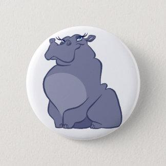 Badge Rond 5 Cm Hippopotame pour Noël