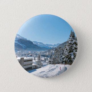 Badge Rond 5 Cm Hiver à St Moritz