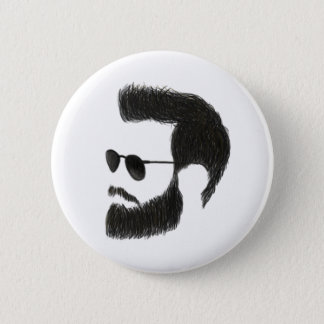 Badge Rond 5 Cm Homme de barbe
