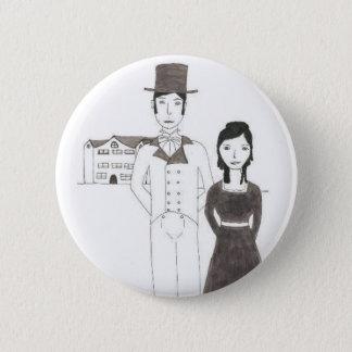 Badge Rond 5 Cm Homme de Regency et épouse (le temps ne me
