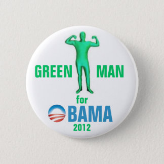 Badge Rond 5 Cm Homme vert pour Obama 2012