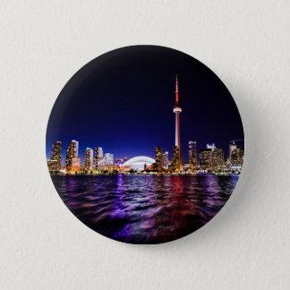 Badge Rond 5 Cm Horizon de Toronto la nuit